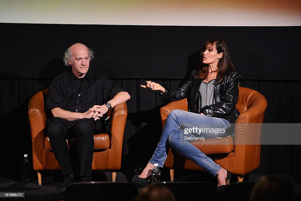 CANDY -- 'Fashion in Film' at Tribeca Cinemas in New York City on Thursday September 19, 2013 -- Pictured: (l-r) Filmmaker Timothy Greenfield-Sanders and model Carol Alt participate in a Q&A session at 'Fashion in Film,' a first-of-its-kind multi-platform event. --