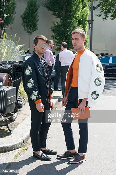 Fashion Influencer Filippo Fiora wearing all Dior and Adhen shoes with Fashion Influencer Filippo Cirulli who wears all Dior and Berlutti shoes on...
