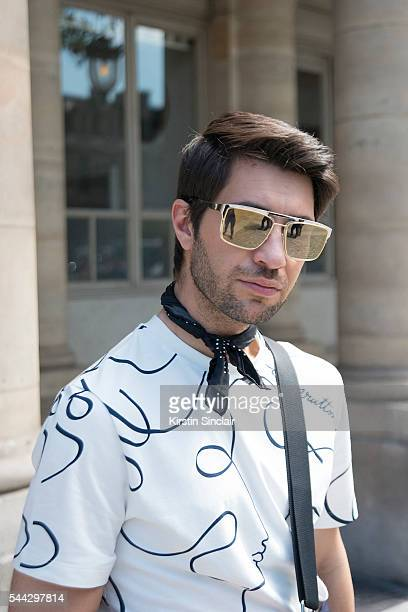 Fashion Influencer Filippo Fiora wears a Louis Vuitton shirt on day 2 of Paris Collections Men on June 23 2016 in Paris France Filippo Fiora