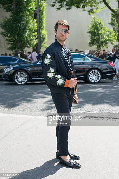 Fashion Influencer Filippo Fiora wears all Dior and Adhen shoes on day 4 of Paris Collections Men on June 25 2016 in Paris France Filippo Fiora
