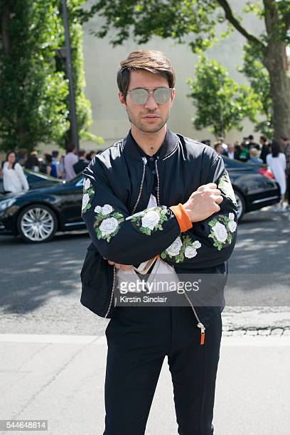 Fashion Influencer Filippo Fiora wears all Dior on day 4 of Paris Collections Men on June 25 2016 in Paris France Filippo Fiora