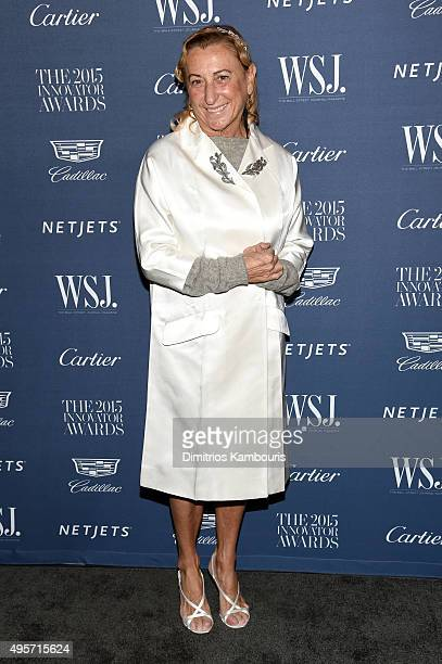 Fashion Innovator Miuccia Prada attends the WSJ Magazine 2015 Innovator Awards at the Museum of Modern Art on November 4 2015 in New York City