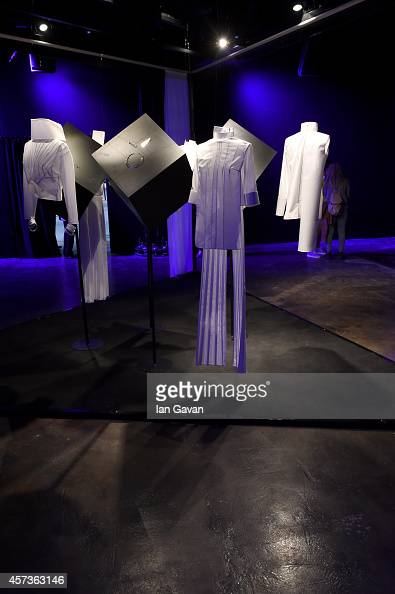 Fashion is displayed at the Ekria White Posture presentation during Mercedes Benz Fashion Week Istanbul SS15 at Antrepo 3 on October 17 2014 in...