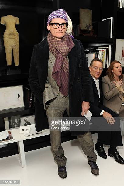 Fashion journalist Hamish Bowles attends the Ralph Rucci fashion show during MercedesBenz Fashion Week Fall 2014 on February 9 2014 in New York City
