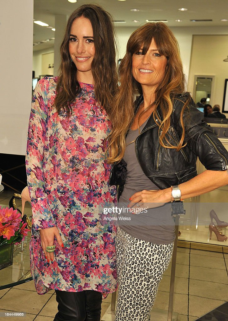 Fashion journalist <a gi-track='captionPersonalityLinkClicked' href=/galleries/search?phrase=Louise+Roe&family=editorial&specificpeople=4300958 ng-click='$event.stopPropagation()'>Louise Roe</a> and shoe designer Ruthie Davis attend the launch of Ruthie Davis' new collection at Bloomingdales Century City on March 23, 2013 in Century City, California.