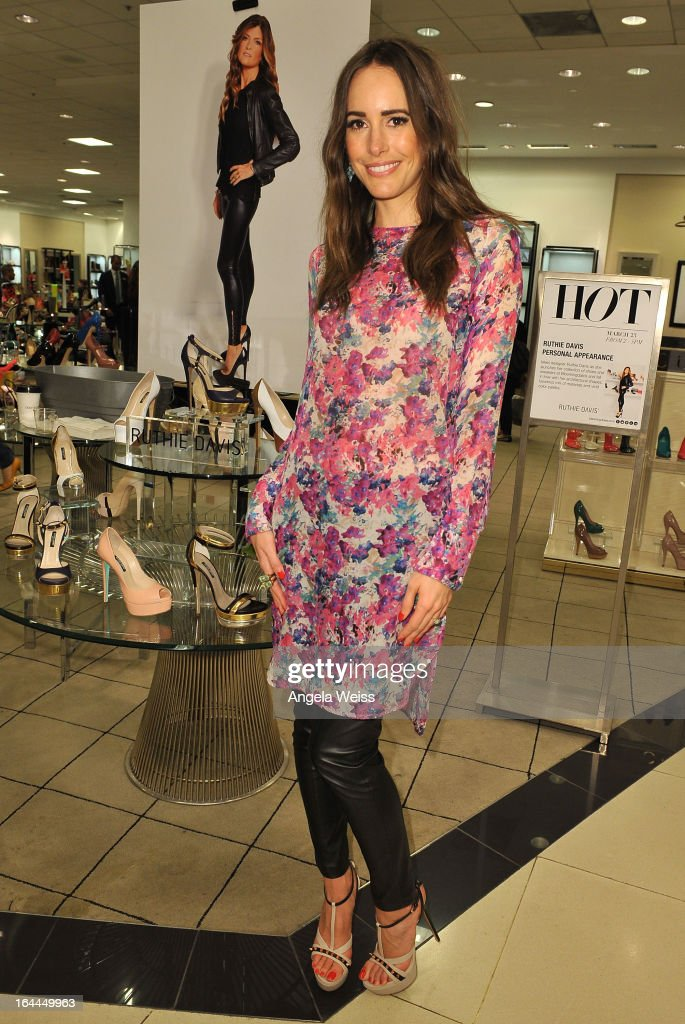 Fashion journalist Louise Roe attends the launch of Ruthie Davis' new collection at Bloomingdales Century City on March 23, 2013 in Century City, California.