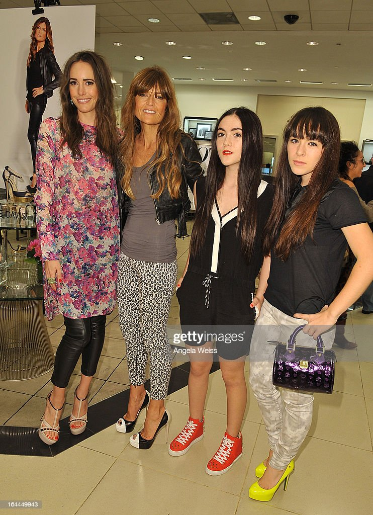 Fashion journalist <a gi-track='captionPersonalityLinkClicked' href=/galleries/search?phrase=Louise+Roe&family=editorial&specificpeople=4300958 ng-click='$event.stopPropagation()'>Louise Roe</a>, shoe designer Ruthie Davis, actress <a gi-track='captionPersonalityLinkClicked' href=/galleries/search?phrase=Isabelle+Fuhrman&family=editorial&specificpeople=4117599 ng-click='$event.stopPropagation()'>Isabelle Fuhrman</a> and singer Madeline Fuhrman attend the launch of Ruthie Davis' new collection at Bloomingdales Century City on March 23, 2013 in Century City, California.