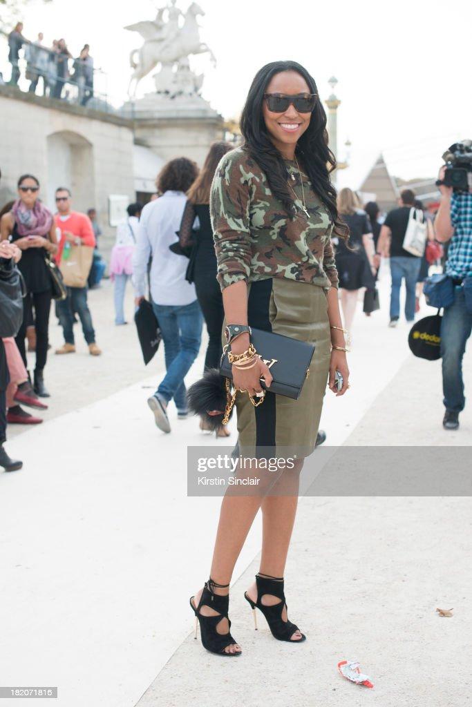 Fashion market director for Cosmo Sheona Turini on day 3 of Paris Fashion Week Spring/Summer 2014, Paris September 26, 2013 in Paris, London.