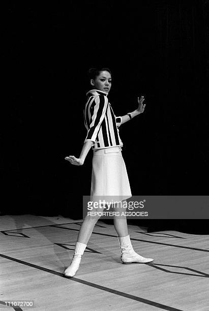 Fashion Mini Dress Courreges In France On January 09 1966 Courreges mini dress