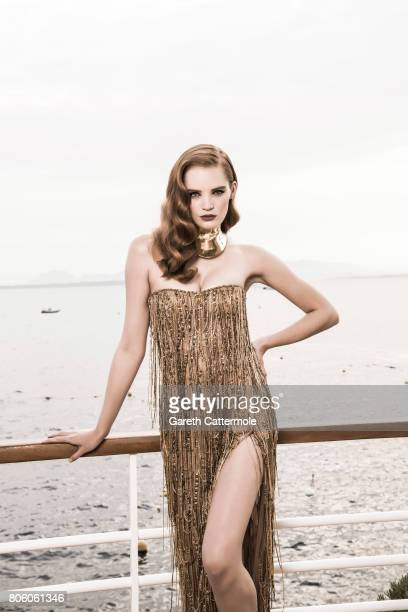 Fashion model Alexina Graham is photographed in Cannes France on May 25 2017