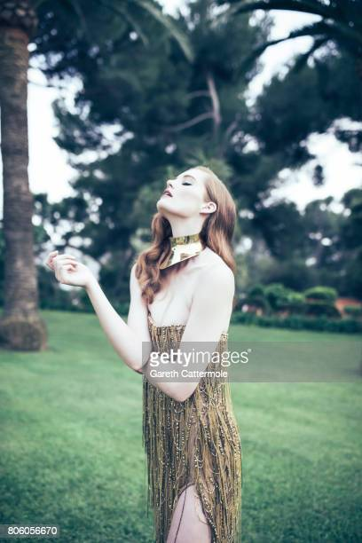 Fashion model Alexina Graham is photographed whilst attending the Amfar Gala at the Eden Roc Hotel on May 25 2017 in Antibes France