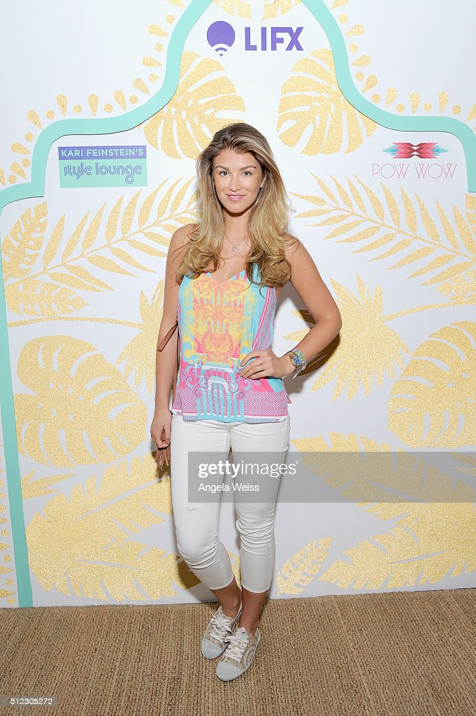 Fashion Model <a gi-track='captionPersonalityLinkClicked' href=/galleries/search?phrase=Amy+Willerton&family=editorial&specificpeople=8785597 ng-click='$event.stopPropagation()'>Amy Willerton</a> attends Kari Feinstein's Style Lounge presented by LIFX on February 25, 2016 in Los Angeles, California.