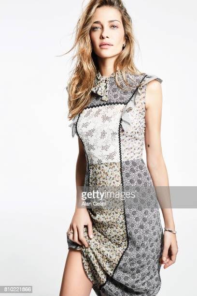 Fashion model Ana Beatriz Barros is photographed for Harpers Bazaar on May 10 2016 in Milan Italy