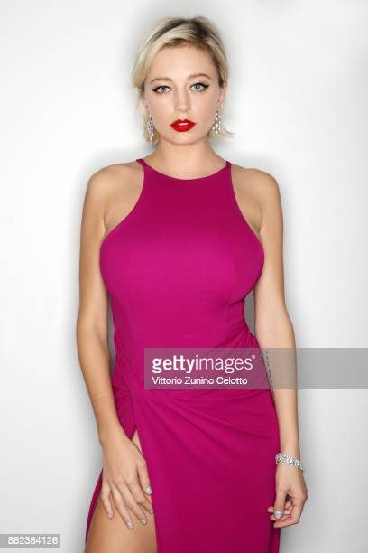 Fashion model and actor Caroline Vreeland poses for a portrait during amfAR Gala Milano on September 21 2017 in Milan Italy