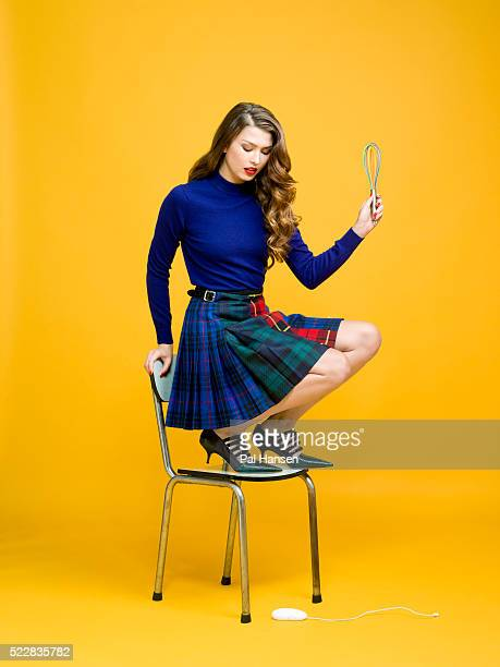 Fashion model and food blogger Danielle Copperman is photographed for ES magazine on October 16 2015 in London England