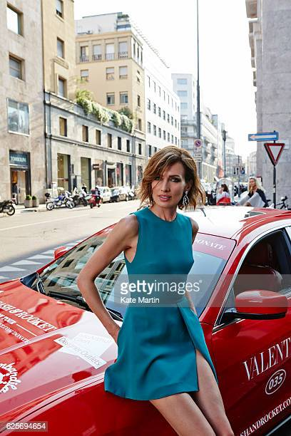 Fashion model and tv presenter Nieves Alvarez is photographed for Hello magazine on May 18 2015 in London England