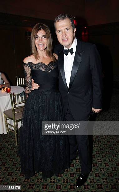Fashion model and writer Carine Roitfeld and acclaimed photographer and honoree Mario Testino attend the El Museo Del Barrio Gala at Cipriani 42nd...