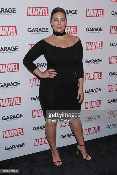 Fashion model Ashley Graham attends the Marvel cover release event with Garage Magazine on February 11 2016 in New York City