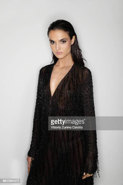 Fashion model Blanca Padilla poses for a portrait during amfAR Gala Milano on September 21 2017 in Milan Italy