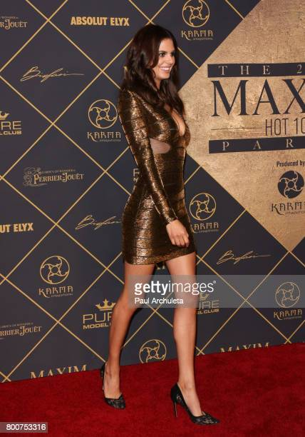 Fashion Model Bojana Krsmanović attends the 2017 MAXIM Hot 100 Party at The Hollywood Palladium on June 24 2017 in Los Angeles California