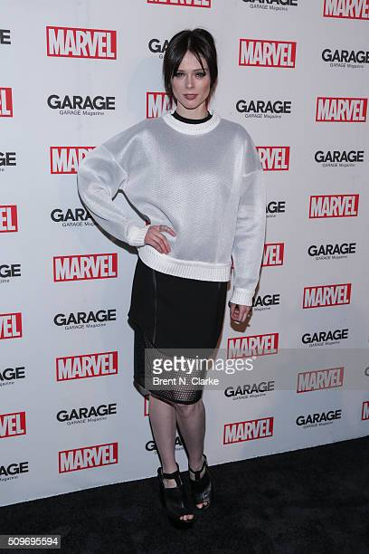 Fashion model Coco Rocha attends the Marvel cover release event with Garage Magazine on February 11 2016 in New York City