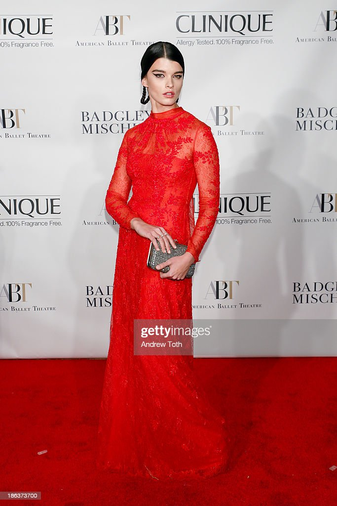 Fashion model <a gi-track='captionPersonalityLinkClicked' href=/galleries/search?phrase=Crystal+Renn&family=editorial&specificpeople=2216376 ng-click='$event.stopPropagation()'>Crystal Renn</a> attends the American Ballet Theatre 2013 Opening Night Fall gala at David Koch Theatre at Lincoln Center on October 30, 2013 in New York City.