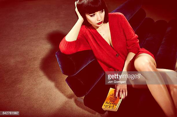 Fashion model Daisy Lowe is photographed for the Guardian on January 4 2013 in London England