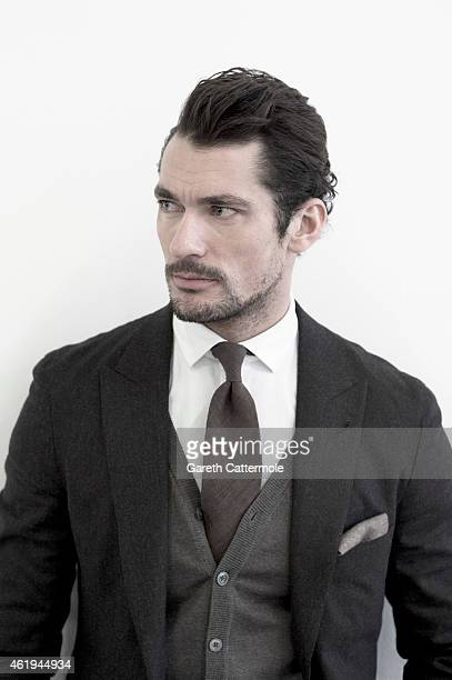 Fashion model David Gandy is photographed on January 10 2015 in London England