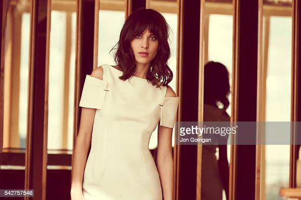 Fashion model designer and tv presenter Alexa Chung is photographed for Grazia magazine on October 25 2013 in New York United States