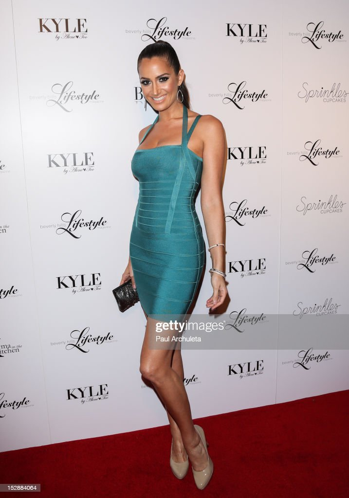 Fashion Model Donna Feldman attends the Beverly Hills Lifestyle magazine Fall 2012 launch party at Kyle by Alene Too on September 27 2012 in Beverly...
