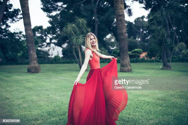 Fashion model Doutzen Kroes is photographed whilst attending the Amfar Gala at the Eden Roc Hotel on May 25 2017 in Antibes France
