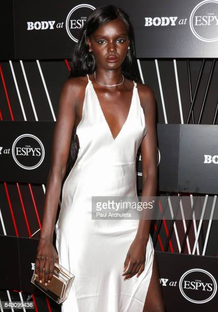Fashion Model Duckie Thot attends the ESPN Magazine Body Issue preESPYS party at Avalon Hollywood on July 11 2017 in Los Angeles California