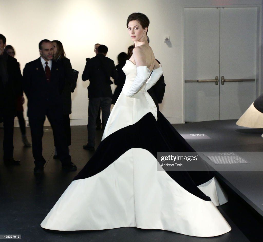 Fashion model Elettra Wiedemann attends The Metropolitan Museum Of Art Presents: Charles James Exhibition press preview at Metropolitan Museum of Art on February 10, 2014 in New York City.