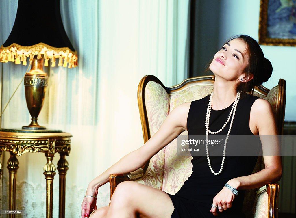 Fashion model enjoys the riches