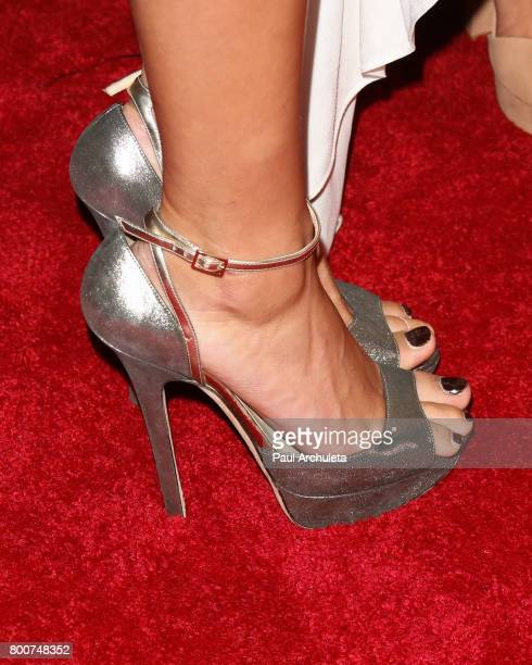 Fashion Model Hailey Baldwin Shoe Detail attends the 2017 MAXIM Hot 100 Party at The Hollywood Palladium on June 24 2017 in Los Angeles California