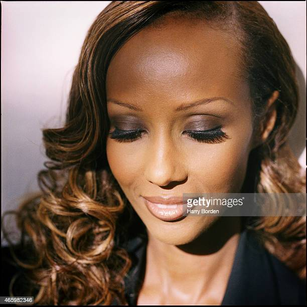 Fashion model Iman is photographed for the Observer on October 3 1997 in London England