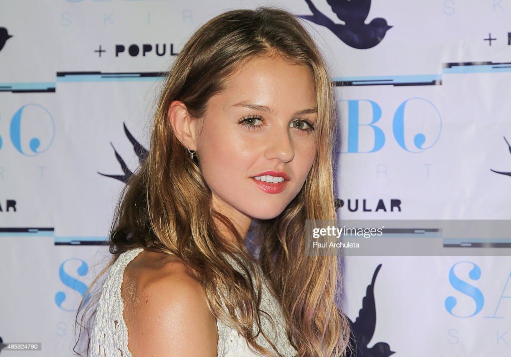 Fashion Model Isabelle Cornish attends Sabo Skirt's 2015 PreVMA Party at SkyBar at the Mondrian Los Angeles on August 26 2015 in West Hollywood...