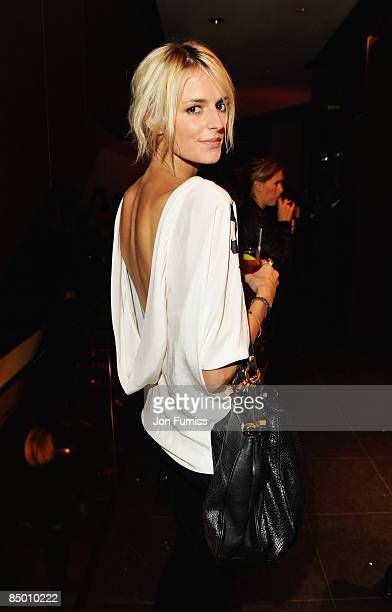 Fashion model Jacquetta Wheeler attends the Mulberry London Fashion Week Party at the Mulberry Store New Bond Street on February 23 2009 in London...
