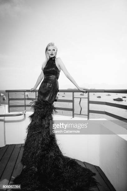 Fashion model Lara Croft is photographed in Cannes France on May 24 2017