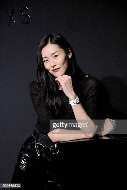 Fashion model Liu Wen poses during the press conference of Chanel J12XS watch on August 16 2016 in Shanghai China