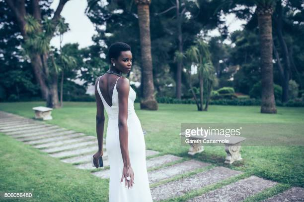 Fashion model Maria Borges is photographed whilst attending the Amfar Gala at the Eden Roc Hotel on May 25 2017 in Antibes France