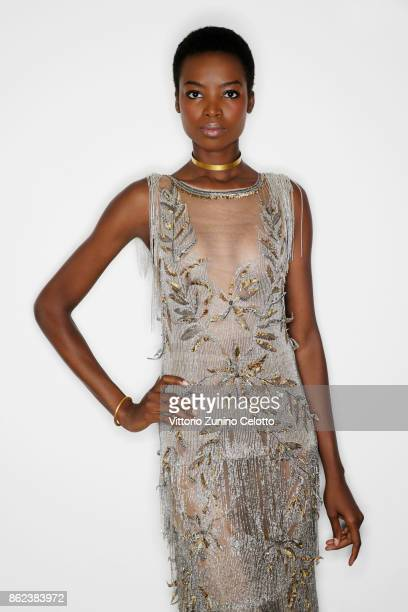 Fashion model Maria Borges poses for a portrait during amfAR Gala Milano on September 21 2017 in Milan Italy
