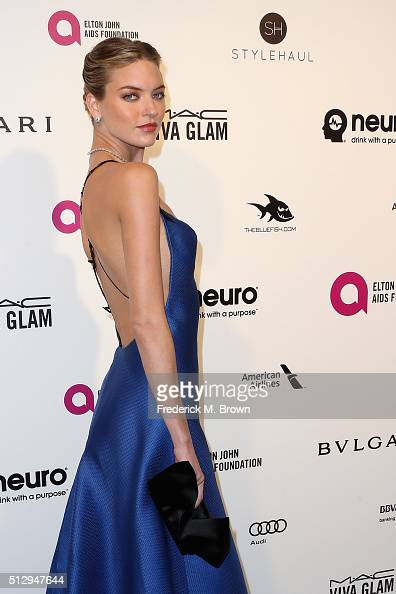 Fashion model Martha Hunt attends the 24th Annual Elton John AIDS Foundation's Oscar Viewing Party on February 28 2016 in West Hollywood California