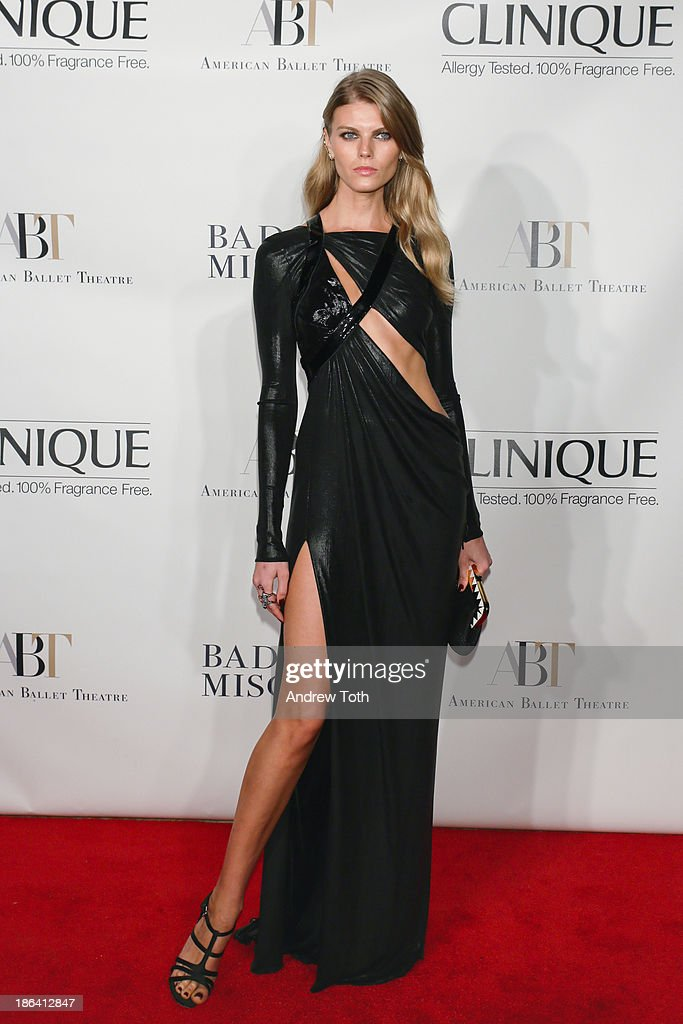 Fashion model Maryna Linchuk attends the American Ballet Theatre 2013 Opening Night Fall gala at David Koch Theatre at Lincoln Center on October 30, 2013 in New York City.