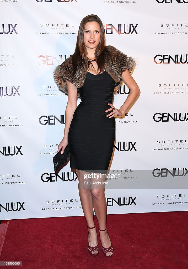 Fashion Model Melissa Haro attends the opening of the new bar Riviera 31 at the Sofitel L.A. Hotel on January 15, 2013 in Beverly Hills, California.