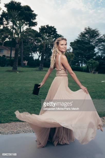 Fashion model Natasha Poly is photographed for Paris Match whilst attending the Amfar Gala at the Eden Roc Hotel on May 25 2017 in Antibes France