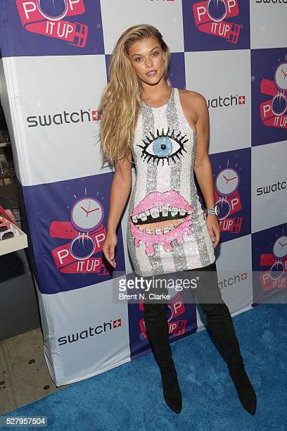 Fashion model Nina Agdal attends the Swatch Times Square flagship store opening and launch of the POP Collection on May 3 2016 in New York City