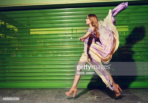 fashion model on catwalk