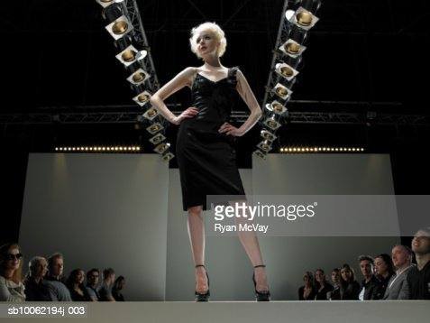 Fashion model on catwalk : Stock Photo