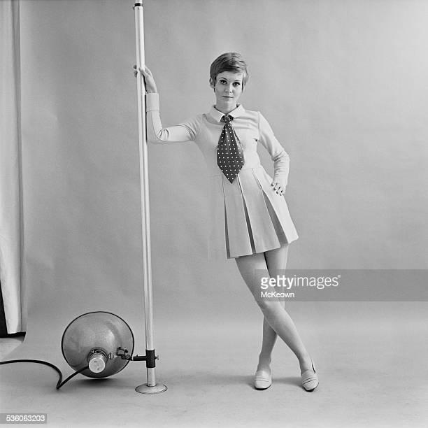 Fashion model Sue Lynn shows a day dress designed by Biba 9th March 1967